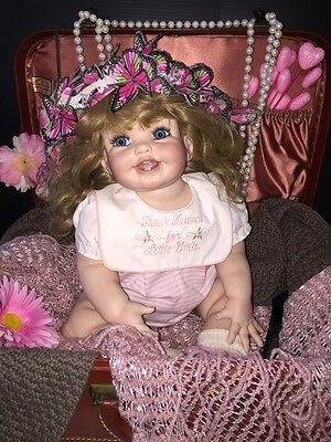 M Rolfe Gorgeous Porcelain Long Blonde Beautiful Baby Doll