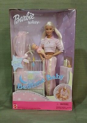 "Bedtime Baby ""Barbie & Krissy Lullaby Set w/Crib"" 2000 #28516, MIB & NRFB"