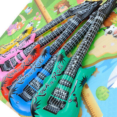 Inflatable Rock Roll Guitar Toy Stage Prop Air Filler Wedding Party Fun Toy