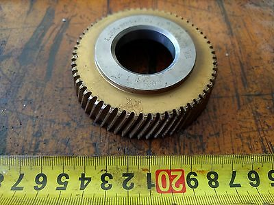 HSS counter bore gear shaper cutter VINOD 1.25M 20PA 60T 17 degree 34 26. 4HA RH