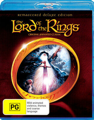 The Lord Of The Rings (1978 / Animated) Deluxe Edition Blu-ray Region B New!