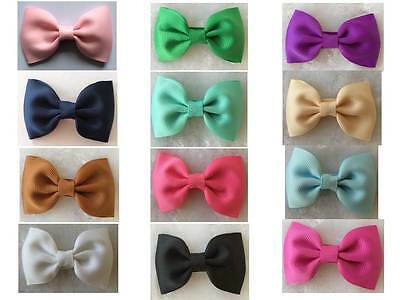 Princess CharlotteTuxedo Bow Hair Clips  -  Toddler Girl Hair Clip Bows