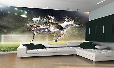Football Players Wall Mural Photo Wallpaper GIANT DECOR Paper Poster Free Paste
