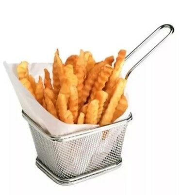 Mini Square Chip Frying Basket prawn scallop deep fry S/s Noodle Boiling Basket