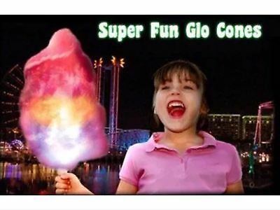 NEW 8 Function LED Cotton Candy Glo Cones-Pack Of 10