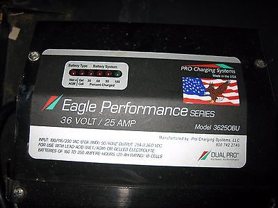 Battery Charger, 36 volt, 25 amp,  Eagle, Performance, Dual Pro, Pro Charging