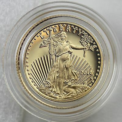 2016-W $5 American Eagle 1/10 oz. Gold Proof Coin in Mint Case & Box with COA