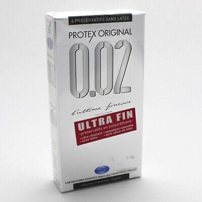 Protex Original 6 Préservatifs Sans Latex Finesse Ultime 0.02Mm Record Du Monde