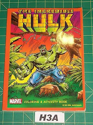 Incredible Hulk Coloring & Activity Book Marvel 2002 Very Good Unused H3A
