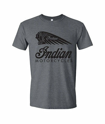 Indian Motorcycles Biker T Shirt Motor Bike AJS TT Mens Retro Vintage HTR