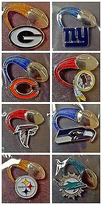 NFL American Football Glitter Trail Team Logo Collectible Pin Badge