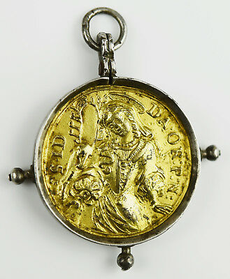 Dukatenklippe Anhänger Medaille Gold 17./18.Jh. Baroque Pendant