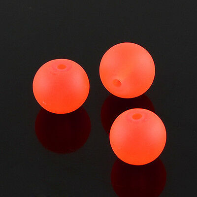1strand Transparent Glass Bead Strands Frosted Round OrangeRed 8mm 105pcs/strand