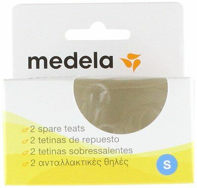 Medela Slow Flow Silicone Teats 2-Pack Free Next Day Baby Bottle Feeding NEW