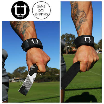 TWOTAGS Lifting Straps Wraps WEIGHT RUBBER PAD WRIST BAR STRENGTH GYM TRAINING