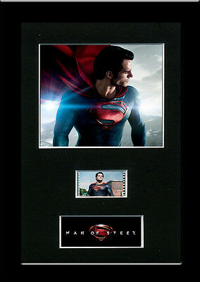 Man of Steel 3 Framed 35mm Mounted Film cells - filmcell movie Superman