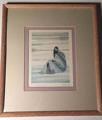 Ioyan Mani Signed Print A Mother's Love 1985 By Maxine Noel Sioux