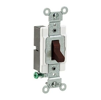 Leviton S.P. Toggle Switch CS120-2 - Brown - New