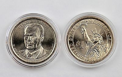 2016 $1 Gerald R. Ford Uncirculated Presidential Dollars 2-coin Set P&D Capsules