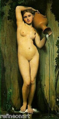 Jean-Auguste-Dominique Ingres The Source Giclee Canvas Print