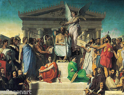 Jean-Auguste-Dominique Ingres Apotheosis of Homer Giclee Canvas Print