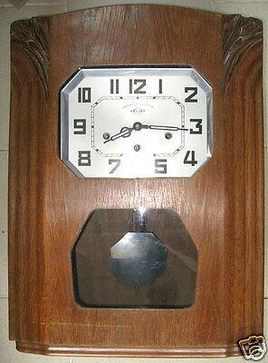 carillon, horloge, art nouveau, vintage, 8 tiges, clock