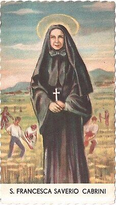 Santino Holy card  S. Francesca Saverio Cabrini