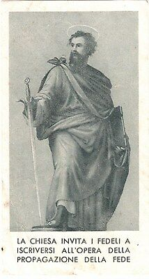 Santino Holy card  S. Francesco Saverio