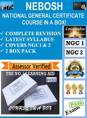 NEBOSH National General Certificate Course in a Box! Covers NGC1 & 2 PASS PASS!