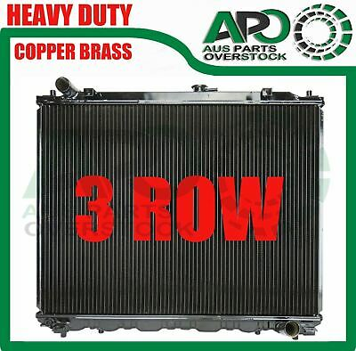 Copper Brass 3 Row Radiator Mitsubishi Pajero NM NP NS NT Diesel AT & MT 5/00-On