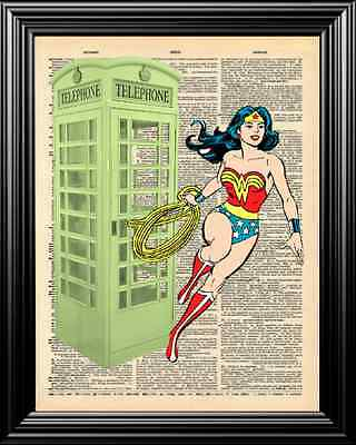 Cherry Albuquerque Con ACE Wonder Woman Cosplay Pinup Comic Art Print Larry Welz