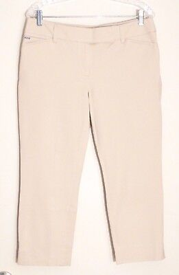 NWT $78 White House Black Market Premium Bi-Stretch Crop Pants, Shell