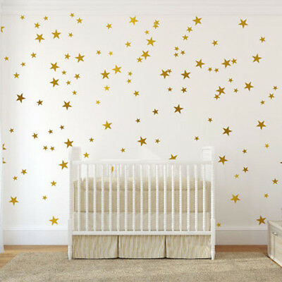 199 Pcs 5 Size Stars Removable Wall Sticker Kids nursery Room Decor Art Decal