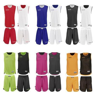 Spalding Doubleface Kids Set Wende Trikot+Shorts Kinder Reversible Basketball
