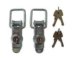 Pair of Replacement ABS Lid Locks Fits Erde 122 Daxara 127 and Other Trailer