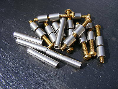 5 Pair St/st And Brass Loveless Bolts Knife Making Handle Scales Bolt Bushcraft