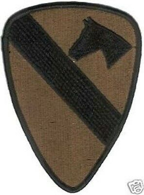 Us Army 1St Cavalry Division Patch - Subdued - Bdu