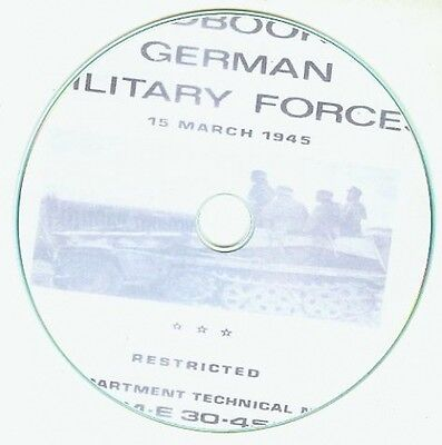 Handbook on German Military Forces 1945 TM -E 30-451 CD