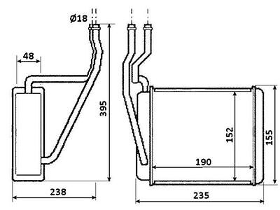NRF Heat Exchanger interior heating 54231 Fit with Ford Courier
