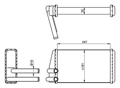 NRF Heat Exchanger interior heating 54267 Fit with Land Rover Defender