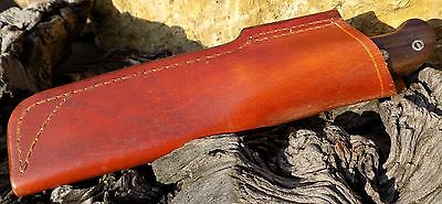 Handmade leather Knife Sheath without Fire steel Holder  British Tan