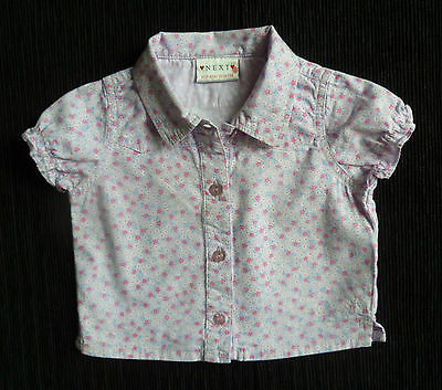 Baby clothes GIRL 3-6m mauve floral NEXT blouse/shirt short sleeve SEE SHOP!