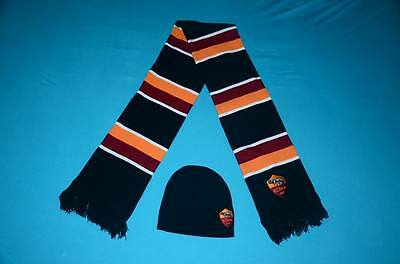 AS Roma Woolen Hat Cap and Scarf