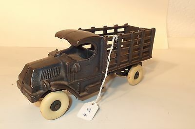 Antique Black Champion Stake Bed Truck Cast Iron