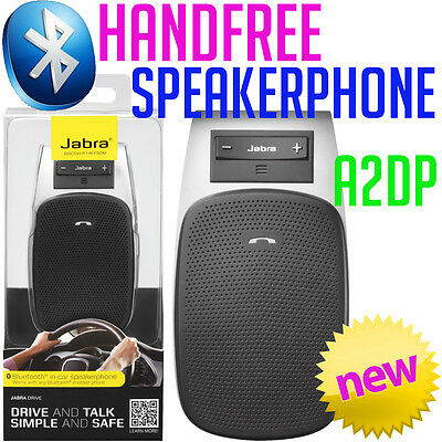 Jabra Drive BLUETOOTH Hands-Free In-Car Speakerphone A2DP Mobile Android iPhone