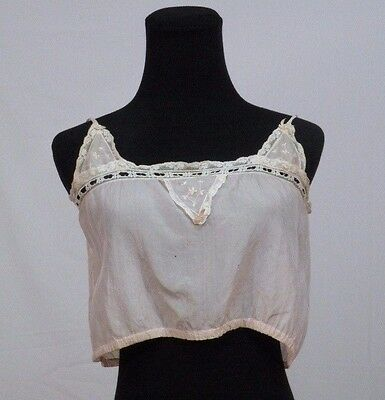 Vintage Early 1900s Silk Bra Corset Cover Pink display study piece
