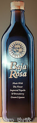 "35"" Baja Rosa Metal Advertising Tin Sign Tequila + Strawberry Liqueur"