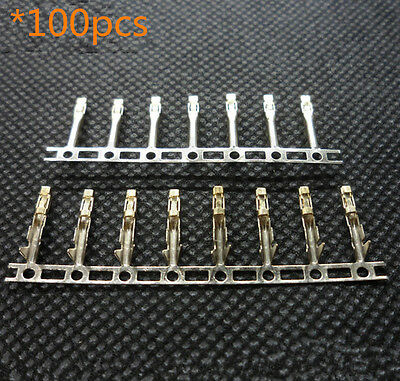 100pcs 2.54mm Dupont Terminal Jumper Wire Cable Housing Female Pin Connector