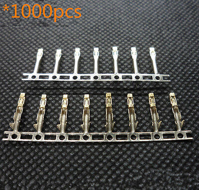 1000pcs 2.54mm Dupont Terminal Jumper Wire Cable  Female Pin Connector Housing