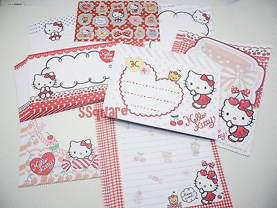 Sanrio Hello Kitty Cherry & Heart Letter Set, 40 Papers +20 Envelopes +Stickers